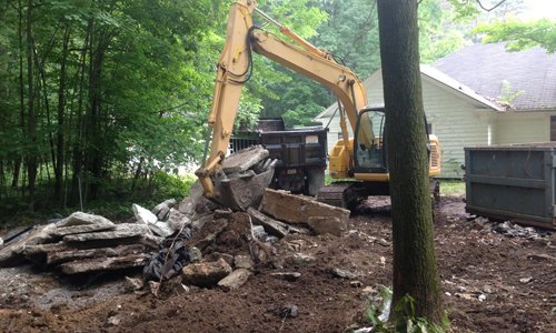 Residential demolition of an old home
