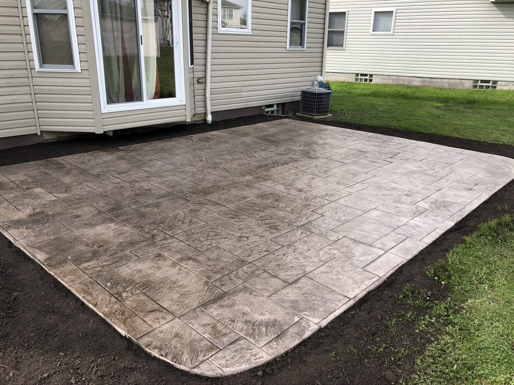Stamped Concrete Patio in Twinsburg Ohio