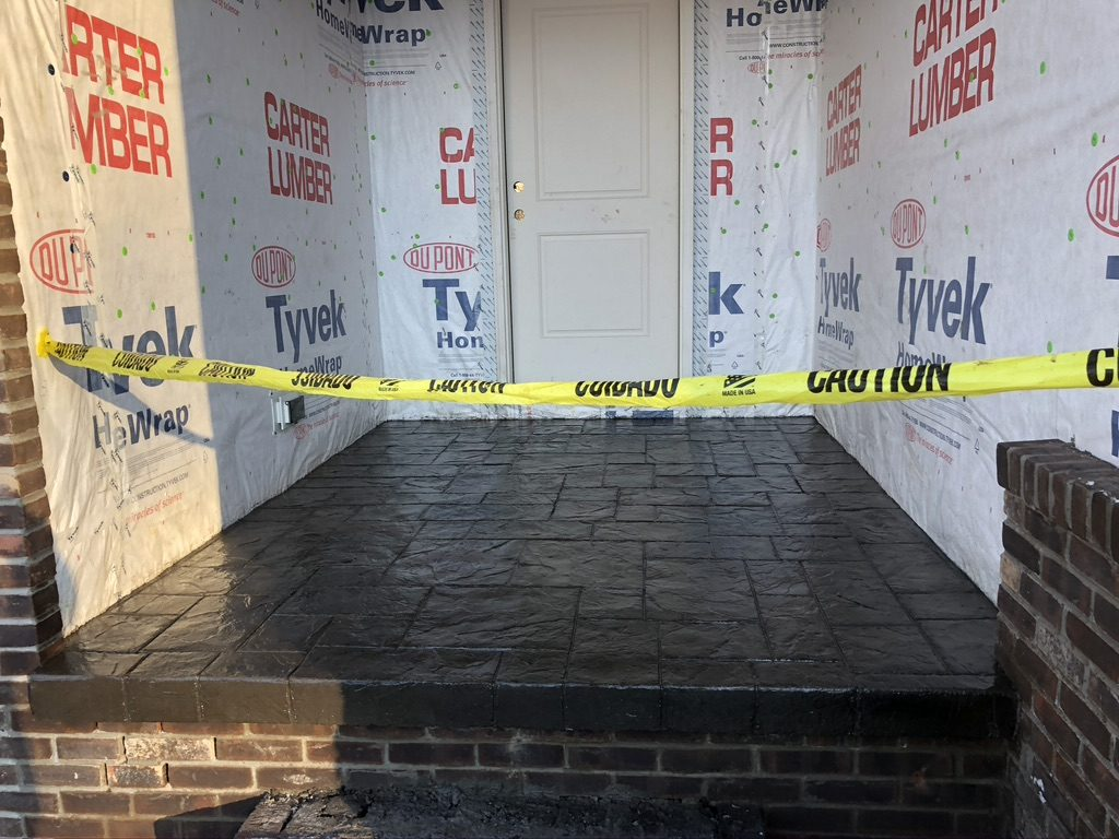 Hudson Ohio Stamped Concrete Patio