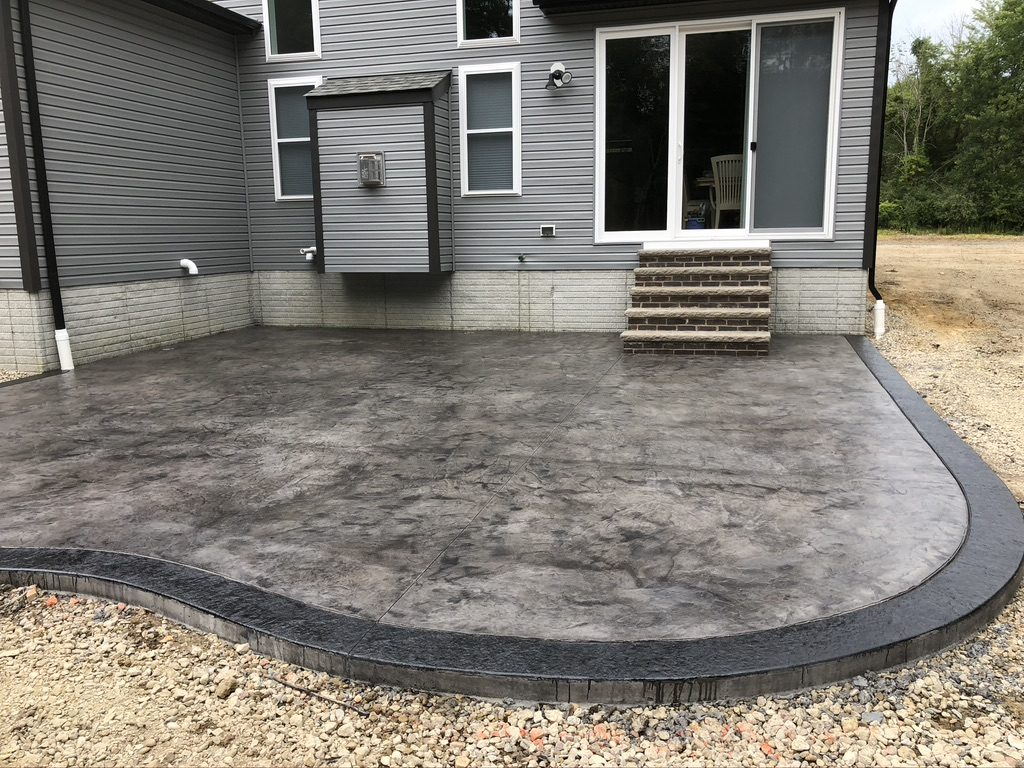 Stamped concrete patio Macedonia Ohio